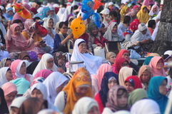 Prayer idul fitri in semarang Stock Photo