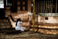 Prayer. This image was taken in Kandy, Sri Lanka Royalty Free Stock Image