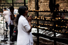 Prayer. This image was taken in Kandy, Sri Lanka Royalty Free Stock Images