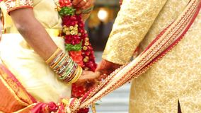 Prayer in the Indian Marriage stock footage