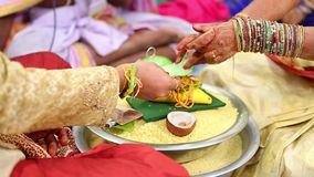 Prayer in the Indian Marriage stock video