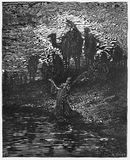 The prayer of Jacob. Picture from The Holy Scriptures, Old and New Testaments books collection published in 1885, Stuttgart-Germany. Drawings by Gustave Dore royalty free illustration