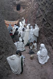 Prayer at the Lalibela Church Stock Image