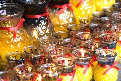 Prayer Lamps. At a Chinese temple Royalty Free Stock Photography