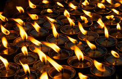 Prayer lamps Stock Images