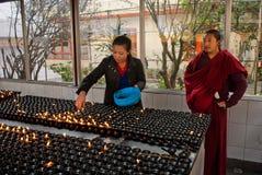 Prayer lights Stock Photography