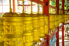 Prayer Mills in Tambun Tibetian Buddhist Temple, Perak Royalty Free Stock Images