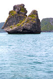 Prayer monkey rock in thailand kho   of a  water      sea Stock Image
