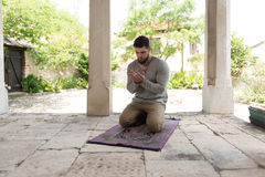 Prayer At Mosque Outdoors Stock Photo
