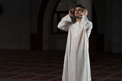 Prayer At Mosque Royalty Free Stock Photos