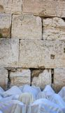 The prayer near Western Wall in Jerusalem Royalty Free Stock Image