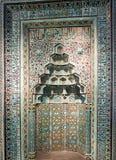 Prayer niche from Beyhekim Mosque in Turkey at Pergamon museum,. BERLIN, GERMANY - APRIL 7: Prayer niche from Beyhekim Mosque in Turkey at museum of Islamic art stock image