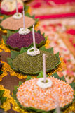 Prayer offerings of food Stock Photo
