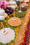 Prayer offerings of food Royalty Free Stock Photo