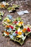 Prayer Offerings at Gua Gajah, Bali, Indonesia. Image of prayer offerings at Gua Gajah hindu temple, Ubud, Bali, Indonesia Stock Photography
