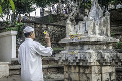 Prayer Offerings at Old Uluwatu Temple, Bali Stock Photography