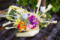 Prayer Offerings, Pura Petitenget, Bali, Indonesia Stock Photography