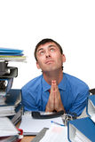 Prayer is an office worker Royalty Free Stock Photography