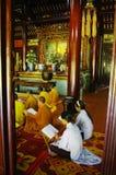 Prayer at the pagoda Royalty Free Stock Image