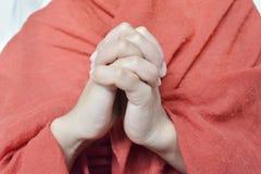 Prayer position Stock Photos