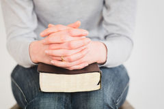 Prayer After Reading the Bible Royalty Free Stock Photography