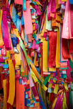 Prayer Ribbons. This image shows some Prayer Ribbons at a temple in Penang, Malaysia Royalty Free Stock Photos