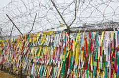 Prayer ribbons Stock Images