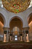 Prayer room in Sheikh Zayed Grand Mosque, Abu Dhabi, UAE Stock Photos