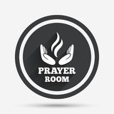 Prayer room sign icon. Religion priest symbol. Royalty Free Stock Photo