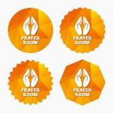 Prayer room sign icon. Religion priest symbol. Stock Image