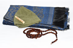 Prayer rugs and rosary pictures for religious websites and advertising agencies Royalty Free Stock Images