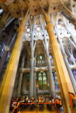 Prayer in Sagrada Familia Royalty Free Stock Photography
