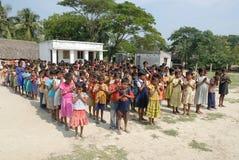 Prayer of the school childrens Royalty Free Stock Photo