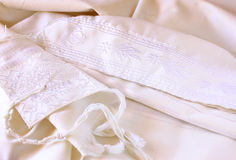 Prayer Shawl - Tallit, jewish religious symbol Stock Photo