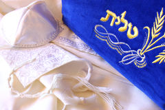 Prayer Shawl - Tallit, jewish religious symbol Royalty Free Stock Image