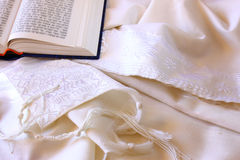 Prayer Shawl - Tallit, jewish religious symbol Stock Images