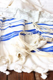 Prayer Shawl - Tallit, jewish religious symbol Royalty Free Stock Photography