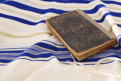 Prayer Shawl - Tallit, jewish religious symbol.  Stock Photography