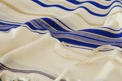 Prayer Shawl - Tallit, jewish religious symbol.  Royalty Free Stock Photo