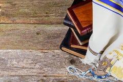 Prayer Shawl - Tallit, jewish religious symbol. Royalty Free Stock Photos