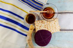 Prayer Shawl - Tallit, jewish religious symbol. Royalty Free Stock Images