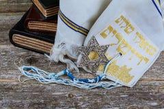 ВPrayer Shawl - Tallit, jewish religious symbol. Selective focus Stock Image