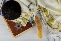 Prayer Shawl - Tallit, jewish religious symbol. Selective focus Royalty Free Stock Photos