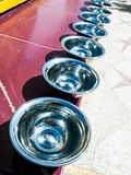 Prayer silver bowls Royalty Free Stock Image