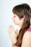 Prayer teen Royalty Free Stock Image