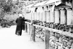 Prayer in tibet Stock Photography