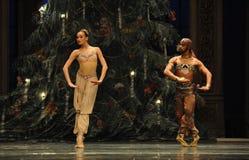 A prayer under the Christmas tree-Arabia Music  Coffee -The Ballet  Nutcracker Royalty Free Stock Image