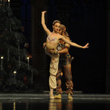 A prayer under the Christmas tree-Arabia Music  Coffee -The Ballet  Nutcracker Stock Images
