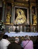 Prayer in Vilnius royalty free stock photo