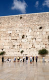 Prayer at the wailing wall Royalty Free Stock Photography